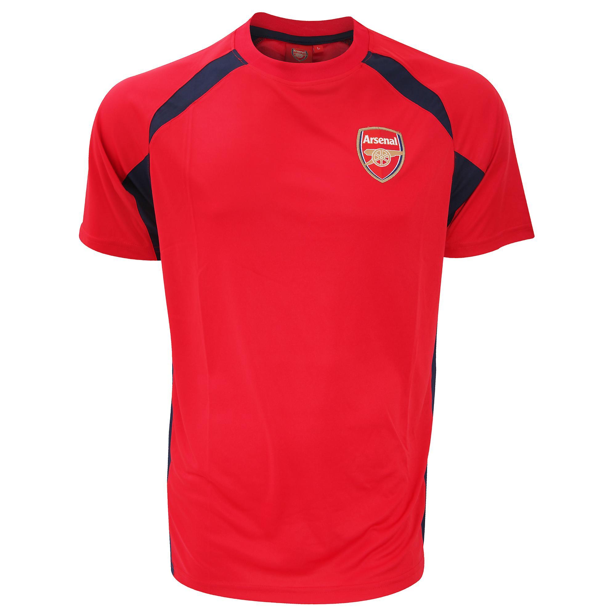 FC Arsenal Mens offisielle fotball Crest panelet t-skjorte