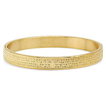 18K goud vergulde Onzevader damesarmband In het Engels