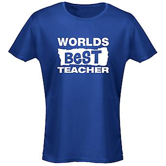 Worlds Best Teacher Birthday Mother's Day Funny Womens T-Shirt 8 Colours by swagwear