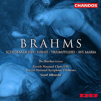 J. Brahms - Brahms: Schicksalslied; N Nie; Triumphlied; Importer des USA de l'Ave Maria [CD]