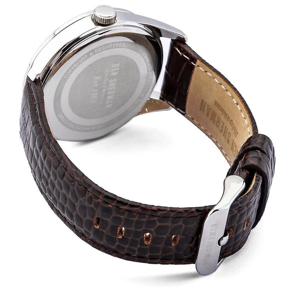 Ben Sherman Mens Gents montre pilote Canaby bracelet noir visage WB052BGR