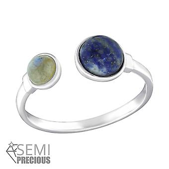 Double Round - 925 Sterling Silver Jewelled Rings - W33906X