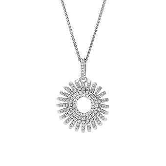 Orphelia plata 925 cadena con colgante círculo con líneas con circonio ZH-7299