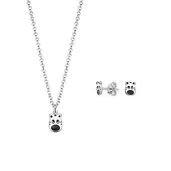ESPRIT kids gioielli orecchini set catena argento Zebra ESSE90985A340