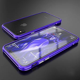 Premium metal shock bumper purple for Apple iPhone X / XS bag cover case new
