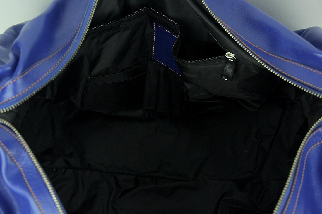 Florida Gators Blue Embossed Leather Duffle Bag