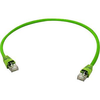 Telegärtner RJ45 L00000A0141 Network cable, patch cable CAT 5 SF/UTP 1.00 m Yellow, Green