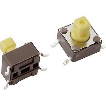 Mentor 1254.1307 Pushbutton 12 V DC 0.05 A 1 x Off/(On) momentary 1 pc(s)