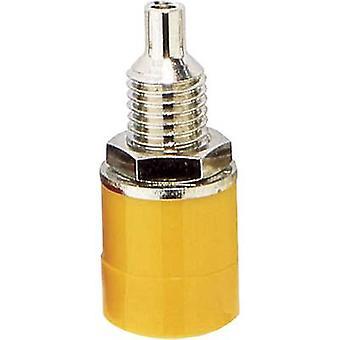 BKL elektroniska 072308 Jack socket Socket, vertikal vertikal Pin diameter: 4 mm gul 1 dator