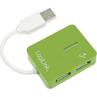 LogiLink UA0138 4 ポート USB 2.0 ハブ グリーン