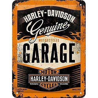 Харлей Дэвидсон гараж небольшой металлический знак 200 X 150 мм