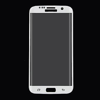 Samsung Galaxy S7 edge 3D gepantserde glas film display beschermer dekt geval wit