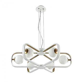 Maytoni Lighting Avola Modern Chandelier, White & Gold