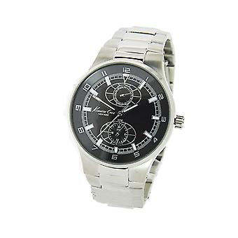 Kenneth Cole New York Mens Silver Day Date Quartz Watch KC3841