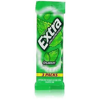 Zusätzliche Spearmint Zucker frei Gum 3 Pack