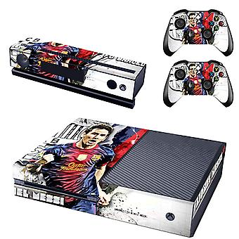 REYTID Console Skin / Sticker + 2 x Controller Decals & Kinect Wrap Compatible with Microsoft Xbox One - Full Set - Messi