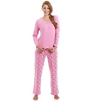 Камиль розовый хлопка звезда печати полная длина для пижамы набор
