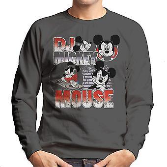 Disney DJ Mickey Mouse mannen Sweatshirt