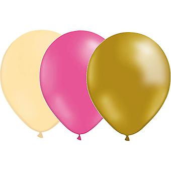 Balloons mix 24-pack Ivory, Pink and Gold