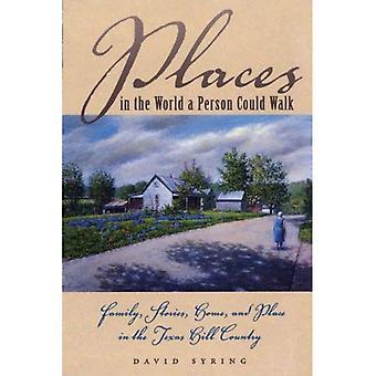 Lugares do mundo, uma pessoa poderia andar: família, histórias, em casa e casa de campo do Texas Hill
