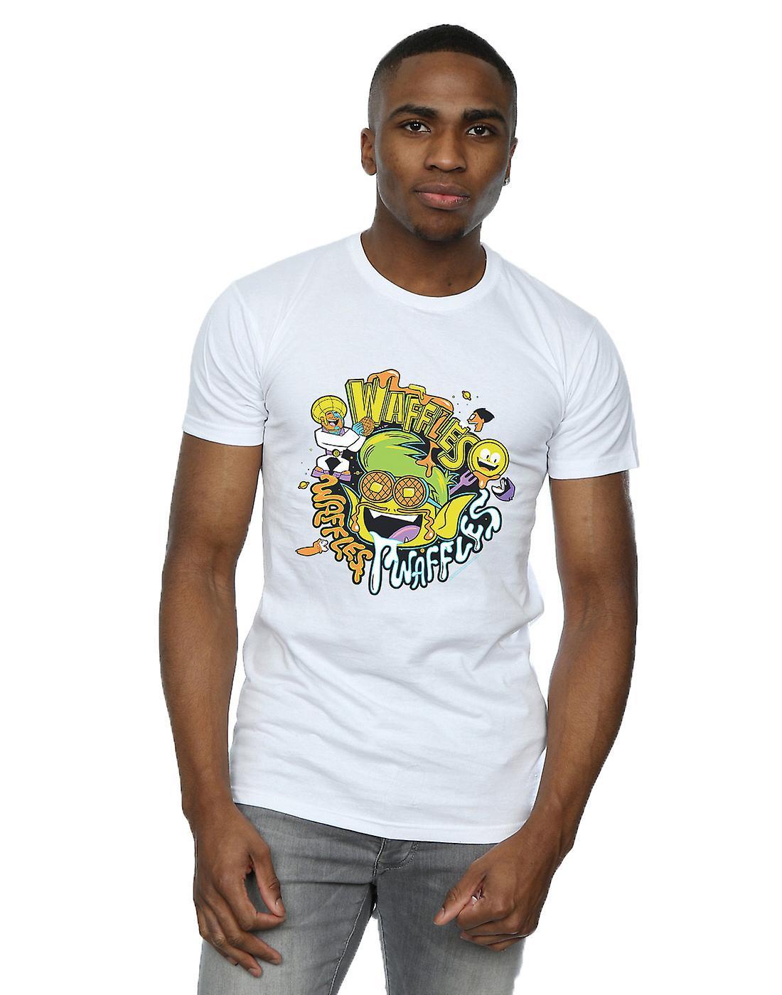 DC Comics Men's Teen Titans Go Waffle Mania T-Shirt