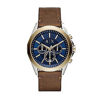 Armani Exchange Chronograph quartz men's Watch with leather band AX2612