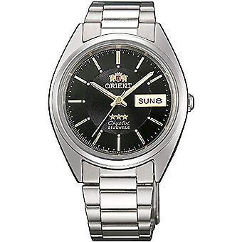Relógio analógico Orient automático unissex com banda de aço inoxidável FAB00006B9