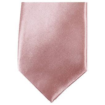 Knightsbridge Krawatte Slim Polyester Krawatte - nackt Pink