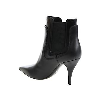 Casadei women's booties in black Leather with stiletto pumps
