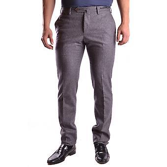 Pt01 Ezbc084007 Men's Grey Wool Pants