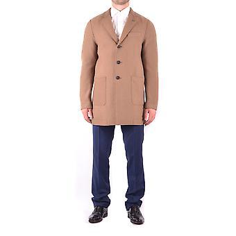 Manuel Ritz Ezbc128017 Men's Brown Wool Coat