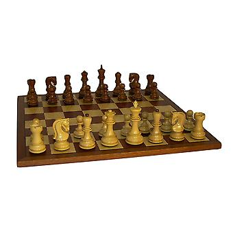 Sheesham Old Russian Chess Set With Sapele Board