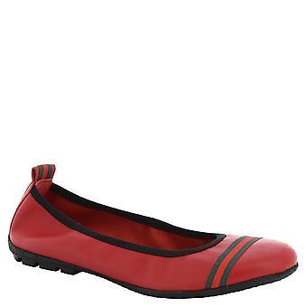 Leonardo Shoes Women's handmade ballerinas in red calf leather