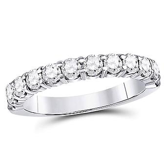 1.00 Carat (ctw G-H, I2-I3) Diamond Wedding Anniversary Band in 14K White Gold
