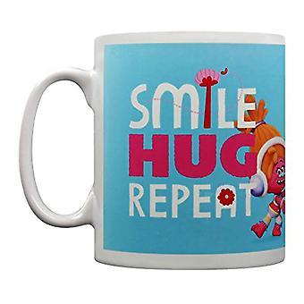 Trolls Movie Smile Hug Repeat Mug