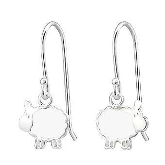 Children's Sterling Silver Sheep Drop Earrings