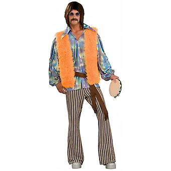 60s Singer Sonny Bono Hippie Hippie 1960 Rock Star Mens Costume STD