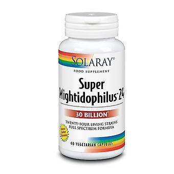 Solaray Super Mightidophilus 24 30bil Cápsulas 60 (91278)