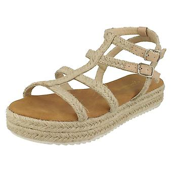 Ladies Savannah Platform Rope Sandals