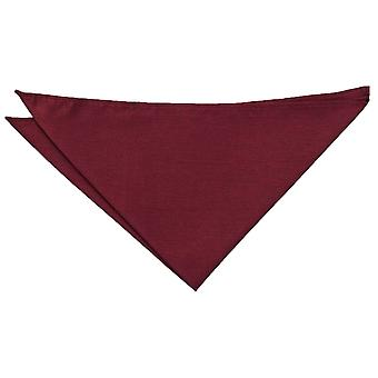 Burgund Plain Shantung Pocket Square