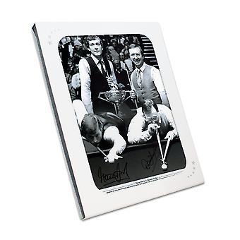 وقعت ستيف ديفيس ودينيس تايلور السنوكر الصورة : 1985 بطولة العالم في هدية مربع