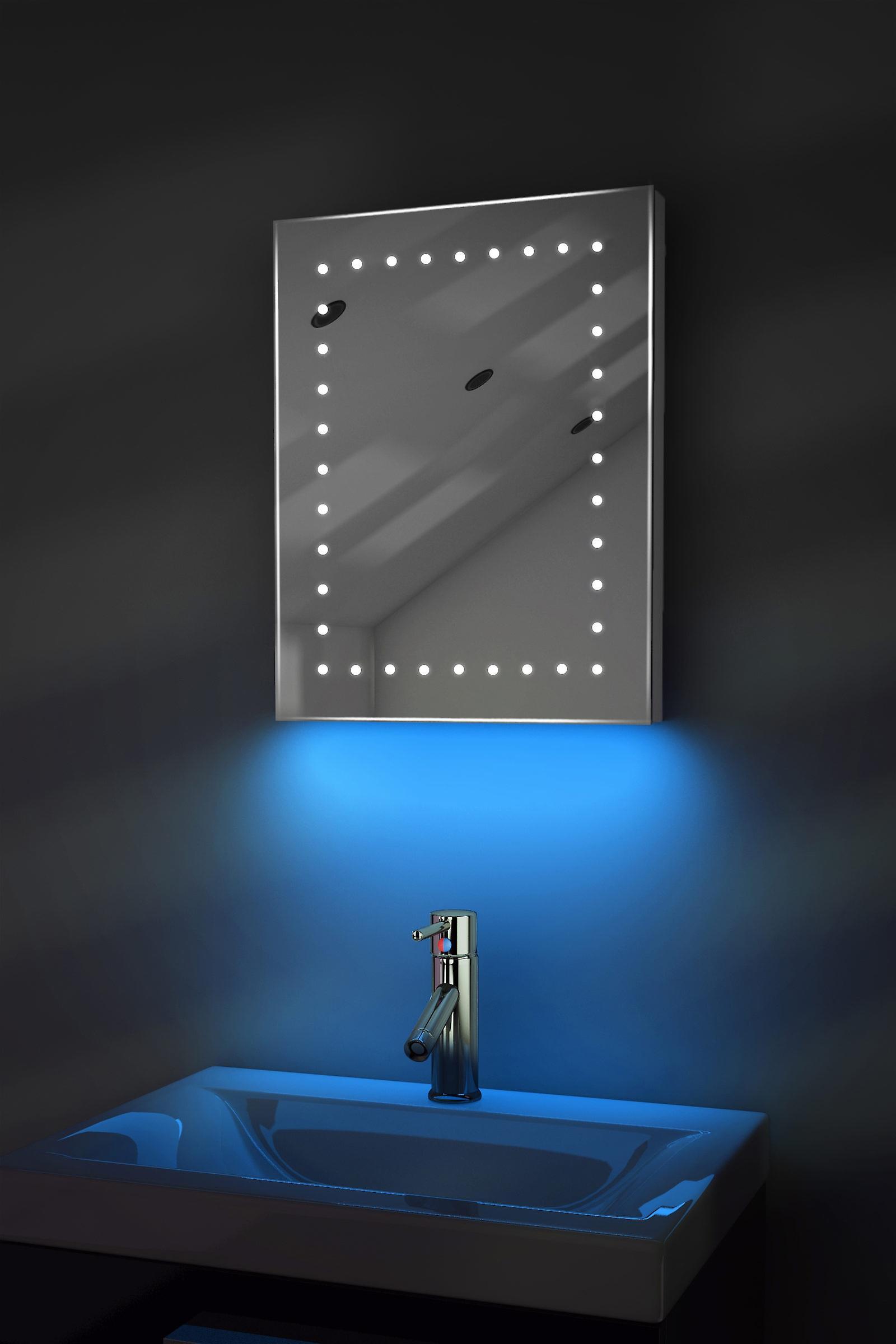 Auto couleur changement ultra-Slim miroir avec désembuage & K162Rgb capteur