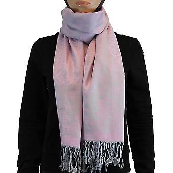 Κασκόλ/Σάλι/Σάλι 100% Παμιμίνα σκούρο ροζ πολύχρωμο