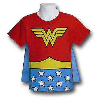 Wonder Woman barn drakt caped T-skjorte