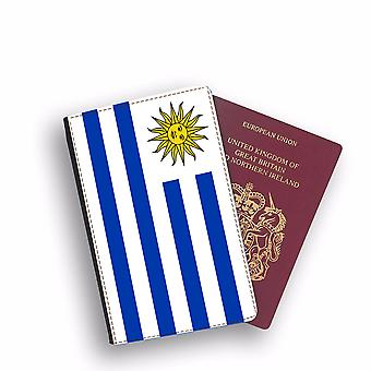 URUGUAY Flag Passport Holder Style Case Cover Protective Wallet Flags design