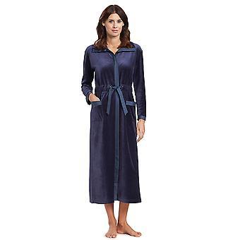 Féraud 3191049-11998 Women's High Class Smokey Blue Dressing Gown Loungewear Robe
