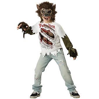 Kostium wilkołaka Wolfman Wilk Monster Horror Halloween chłopców