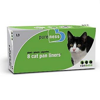 Van Ness Giant Cat Pan Plastic Liner (Pack Of 8)