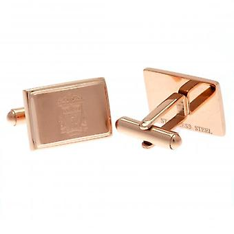 Liverpool Rose Gold Plated Cufflinks