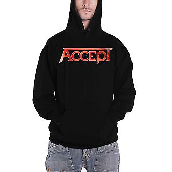 Accept Hoodie Flying V Band Logo Back Print new Official Mens Black Pullover